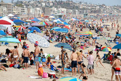 4 de julho celebrações na praia em Califórnia Fotografia de Stock Royalty Free