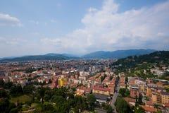 6 de julho de 2013 Cidade de Itália de Bríxia Cidade europeia velha de Bríxia na região de Lombardy no verão fotos de stock