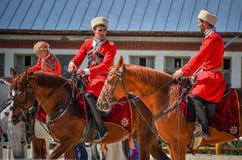 25 de julho de 2015 Apresentação cerimonial da escola de equitação do Kremlin em VDNH em Moscou Fotos de Stock