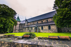 19 de julho de 2015: Catedral de Stavanger, Noruega Fotos de Stock Royalty Free