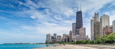 17 de julho de 2016, Chicago, E.U. Povos que apreciam o o verão morno w Fotos de Stock Royalty Free