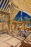 14 de julho de 2016 - construção de uma casa de quadro 'de A' possuída pelo fotógrafo Joe Sohm, Ridgway, Colorado Imagens de Stock