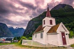 23 de julho de 2015: Igreja da pauta musical de Undredal, Noruega Fotografia de Stock Royalty Free