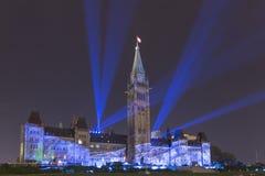 15 de julho de 2015 - Ottawa, em construções do parlamento de Canadá - de Canadá foto de stock royalty free