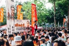 1º de julho de 2014 protesto Fotos de Stock Royalty Free