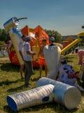 26 de julho de 2015 Red Bull Flugtag Antes dos começos da competição Imagens de Stock Royalty Free