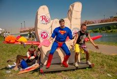 26 de julho de 2015 Red Bull Flugtag Antes dos começos da competição Imagens de Stock