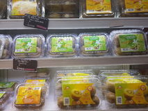4 de julho de 2017, Selayang Selangor Os frutos indicam em Jaya Grocer Supermarket imagem de stock