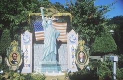 4 de julho decorações, garganta de Coldwater, Califórnia Imagem de Stock