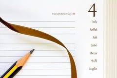4 de julho diário Fotos de Stock