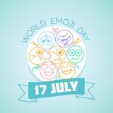 17 de julho dia de Emoji do mundo Foto de Stock