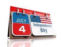 4 de julho dia de Independanced Foto de Stock