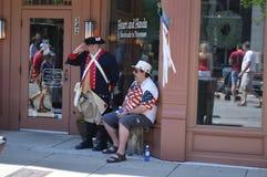 4 de julho em Franklin Imagens de Stock Royalty Free