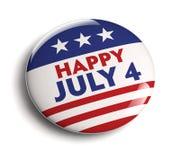 4 de julho emblema Fotografia de Stock
