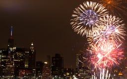4 de julho fogo de artifício Imagens de Stock Royalty Free