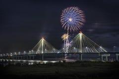 4 de julho fogos-de-artifício da celebração da independência dos EUA, Alton Imagens de Stock Royalty Free