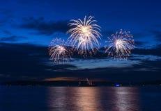 4 de julho fogos-de-artifício Imagens de Stock Royalty Free