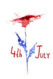 4 de julho fundo do Dia da Independência Imagens de Stock