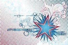 4 de julho molde da estrela Fotografia de Stock Royalty Free