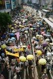 1º de julho protesto em Hong Kong Foto de Stock Royalty Free