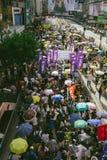 1º de julho protesto em Hong Kong Fotografia de Stock