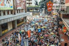 1º de julho protesto em Hong Kong Foto de Stock