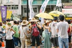 1º de julho protesto em Hong Kong Imagens de Stock