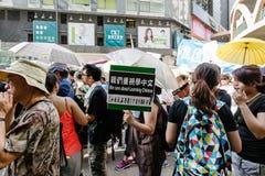 1º de julho protesto em Hong Kong Fotos de Stock