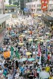1º de julho protesto em Hong Kong Fotos de Stock Royalty Free