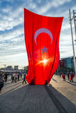15 de julho protestos da tentativa do golpe em ıstanbul Fotos de Stock Royalty Free