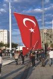 15 de julho protestos da tentativa do golpe em Istambul Imagem de Stock Royalty Free