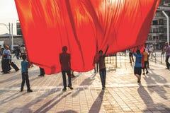 15 de julho protestos da tentativa do golpe em Istambul Fotos de Stock