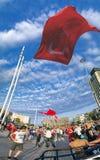 15 de julho protestos da tentativa do golpe em Istambul Imagens de Stock