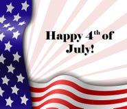 4 de julho quadro de texto patriótico Foto de Stock Royalty Free