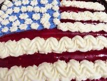 4 de julho sobremesa do bolo Fotos de Stock Royalty Free