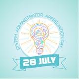 28 de julio administrador de sistema Fotos de archivo
