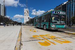 The 9 de Julio Avenue in Buenos Aires, Argentina. Stock Images
