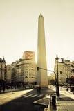 9 DE Julio Avenue en de Obelisk, Buenos aires Stock Fotografie