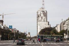 9 de Julio Buenos Aires. Avenue 9 de Julio in Buenos Aires, Argentina Royalty Free Stock Image
