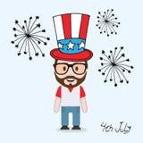 4 de julio carácter masculino libre illustration