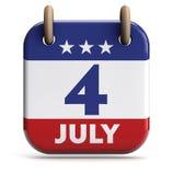 4 de julio día stock de ilustración