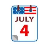 4 de julio Día de la Independencia Imagen de archivo