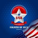 4 de julio, Día de la Independencia de América Imagen de archivo libre de regalías