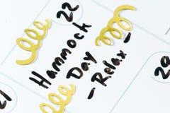 22 de julio, día nacional de la hamaca Foto de archivo libre de regalías