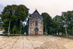 19 de julio de 2015: Catedral de Stavanger, Noruega Fotografía de archivo libre de regalías