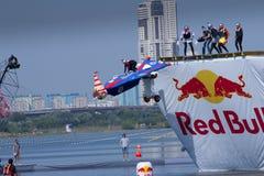 26 DE JULIO DE 2015 MOSCÚ: Día rojo del flugtag del toro Fotografía de archivo