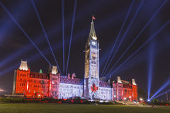15 de julio de 2015 - Ottawa, EN edificios del parlamento de Canadá - de Canadá foto de archivo