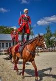 25 de julio de 2015 Presentación ceremonial de la escuela de montar a caballo del Kremlin en VDNH en Moscú Fotos de archivo