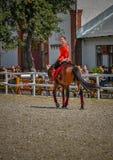25 de julio de 2015 Presentación ceremonial de la escuela de montar a caballo del Kremlin en VDNH en Moscú Fotografía de archivo