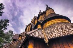 18 de julio de 2015: Primer de Heddal Stave Church en Telemark, Norw Imagen de archivo